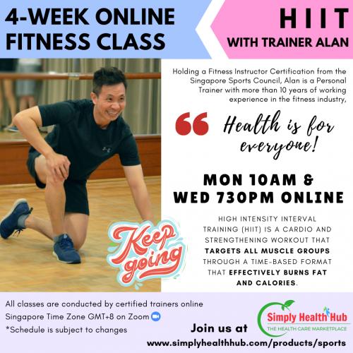 HIIT 4-Week Online Fitness Class