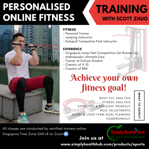 Personalised Online Fitness Training with Scott (Single Session)